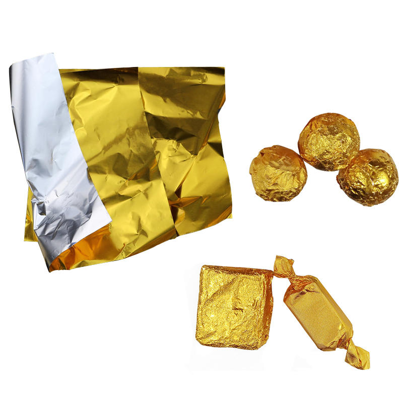 Golden Aluminum Foil Candy Chocolate Cookie Wrapping Tin Paper Metal Embossing