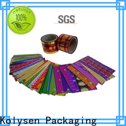 Kolysen Latest plastic film roll manufacturers for food packaging