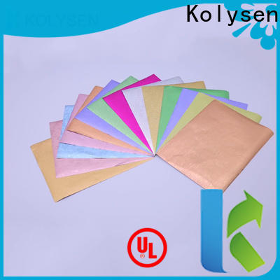 Kolysen wrapping chocolate wrapping paper cheap wholesale pharmaceutical bottle neck