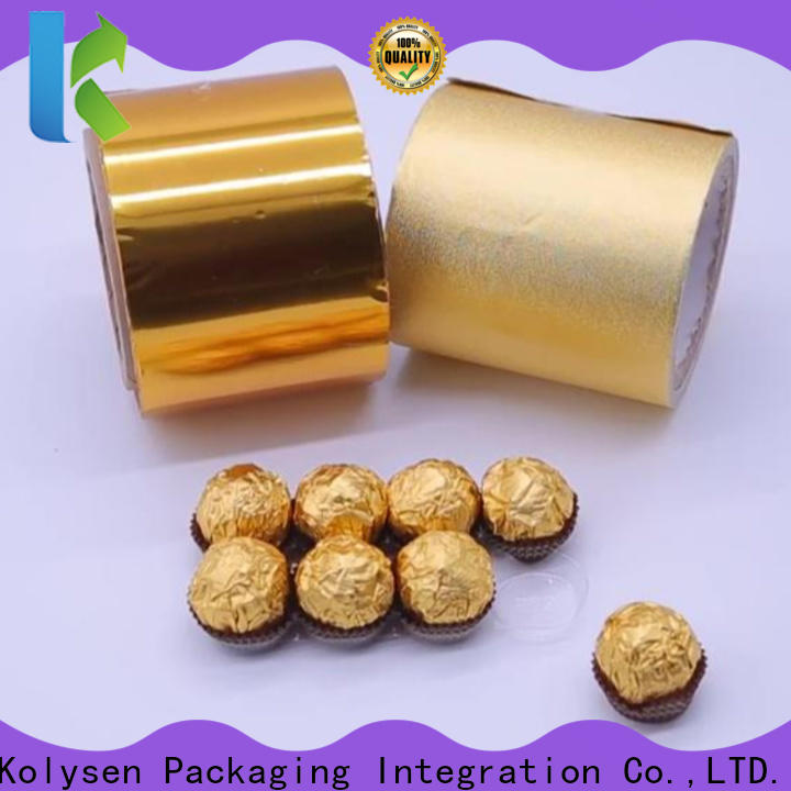 Custom gold foil wrapper company for wrapping cheese
