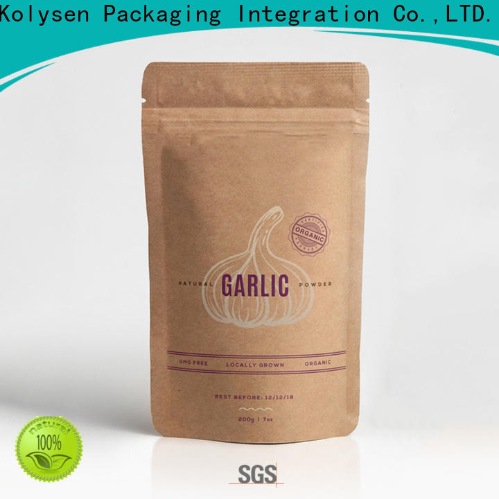 Kolysen Custom stand up pouch bags Suppliers for food packaging