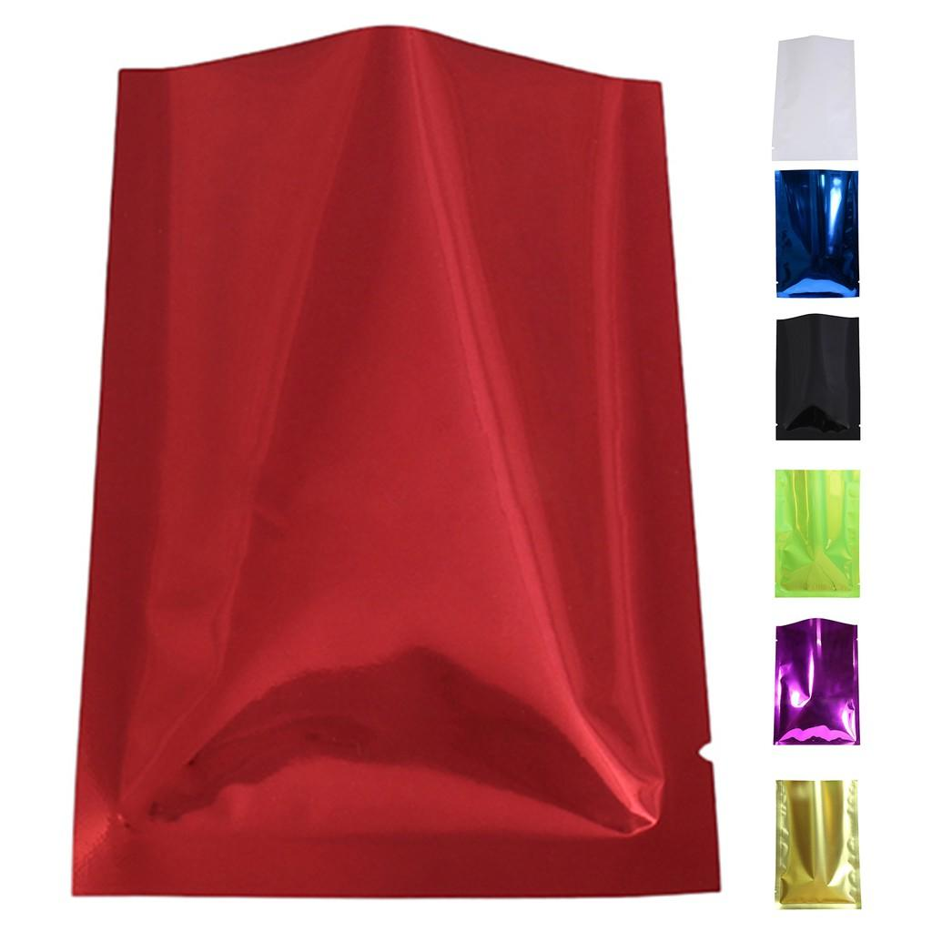 Colored Aluminum Foil Flat Bag in Black / White / Red / Blue / Green Color