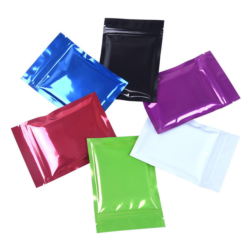 Aluminum Foil Smell Proof Pouch Heat Seal Open Top Flat Mylar Bags