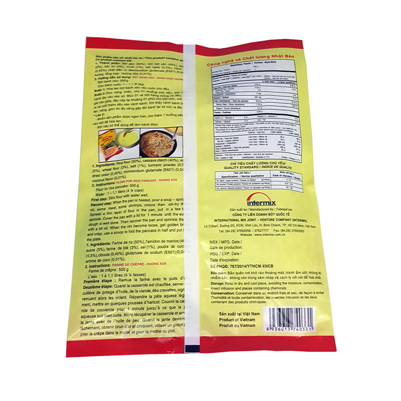 Food Packaging Customized Pillow Pouch Back Center Sealed Sealed Bag Heat Sealed Bags