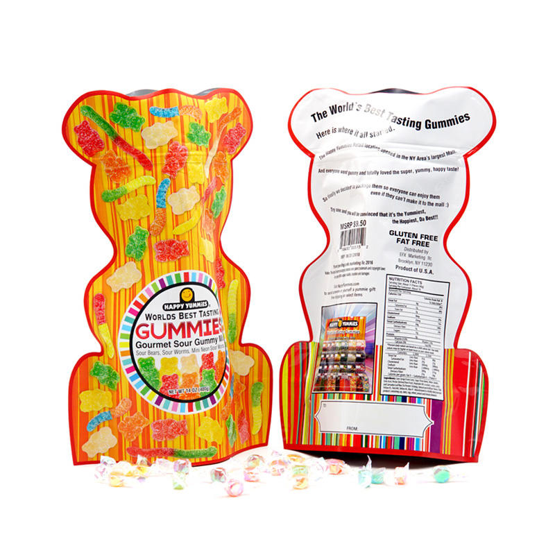 Custom Shape Food Packaging Bags with Zipper