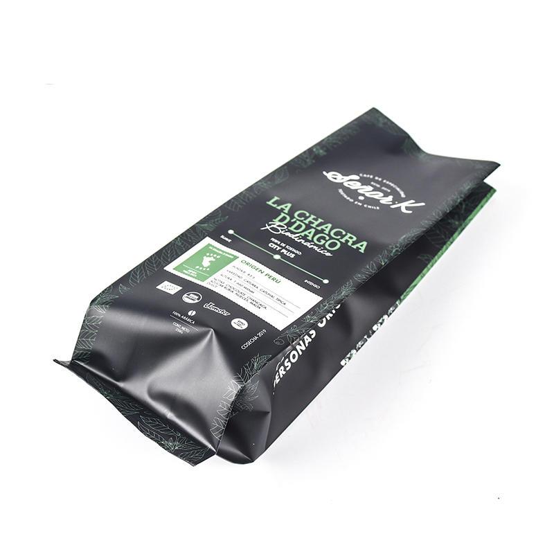 Custom Printed Coffee Bags Foil Side Gusset Bag
