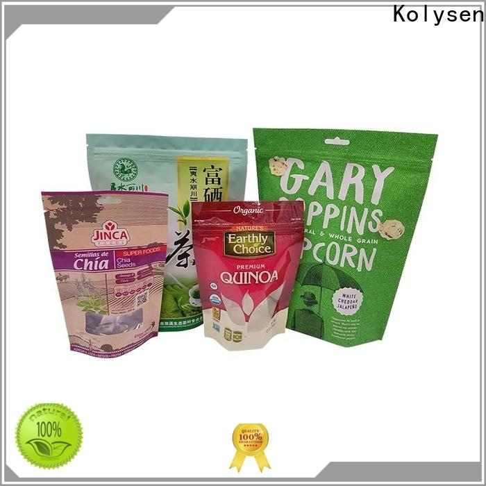 Kolysen stand up pouches for food Supply used in pharmaceutical market