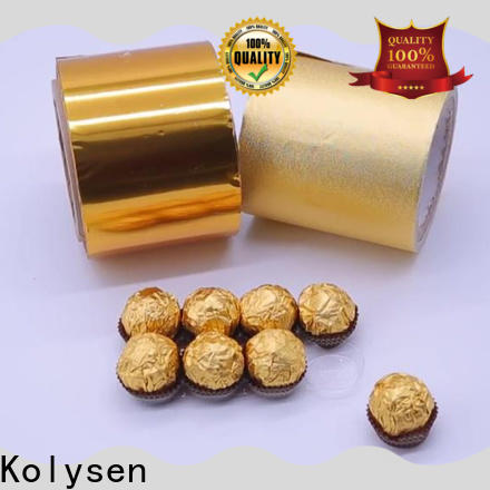 Kolysen foil lid wholesale products for sale for wrapping butter/margarine