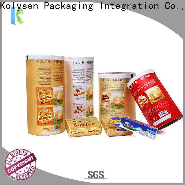 Kolysen foil paper for food packaging Supply used in food and beverage