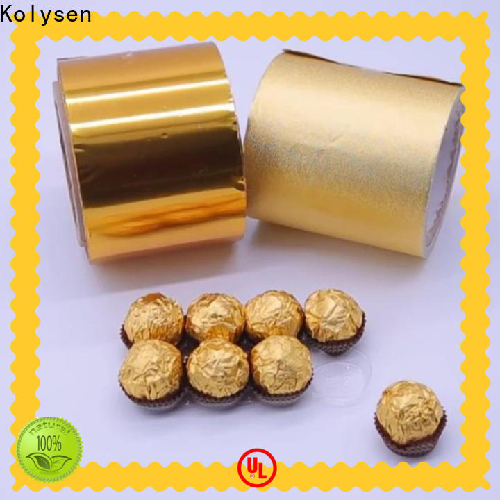 Kolysen gold foil paper for business for wrapping chocolate