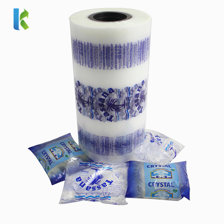 Printed LDPE Automatic Liquid Packaging Film Roll for Water Sachet