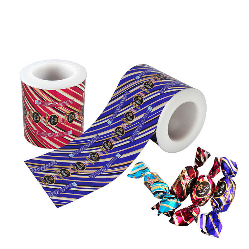 Metallized PET Twist Film Roll Candy Wrapper Packaging Materials