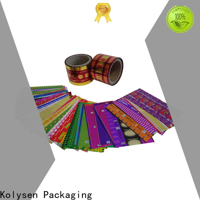 Kolysen oem heat shrink wrap Supply for tamper evident seals