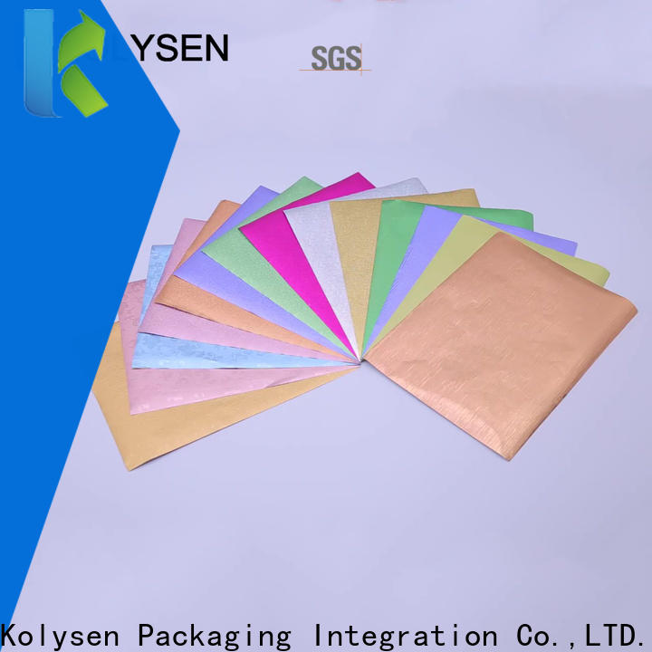 Kolysen chocolate foil manufacturers for wrapping chocolate