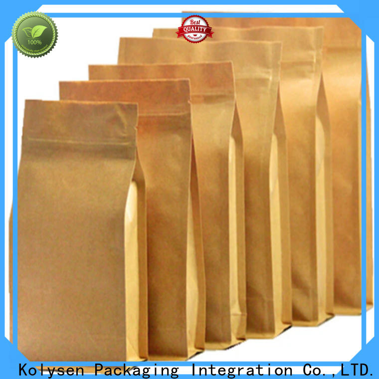 High-quality kraft zipper pouch bags manufacturers for food packaging