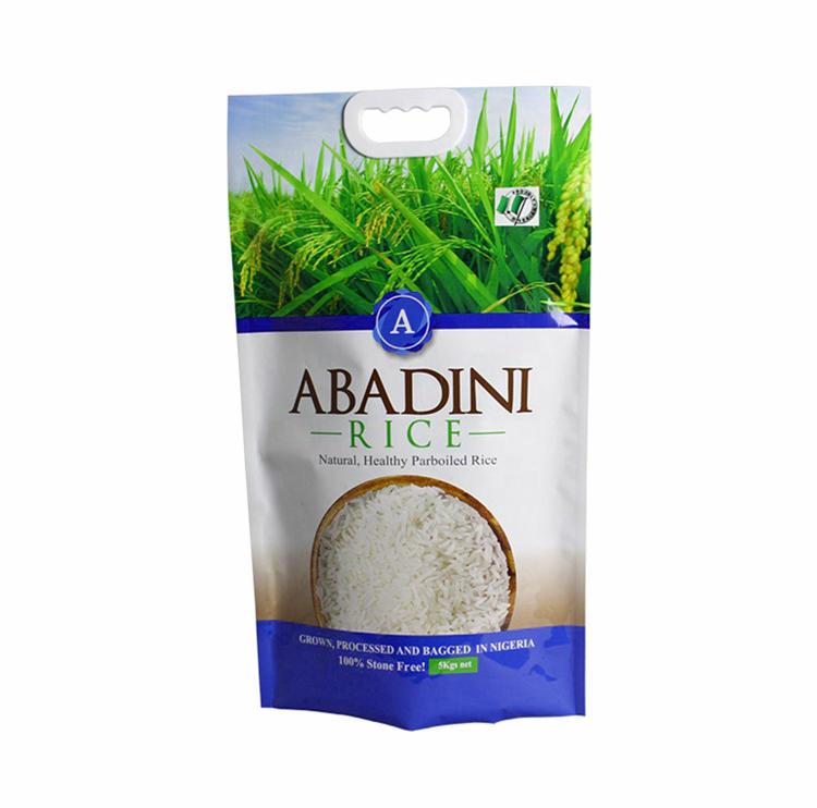 Custom Printing Plastic Rice Packaging Bags wIth Handle