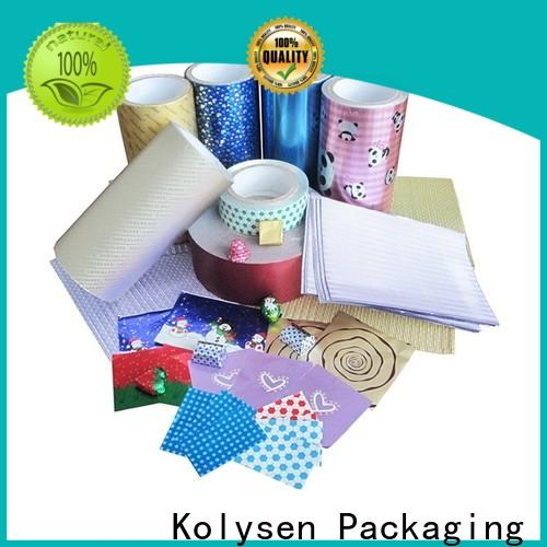 Custom foil paper packaging for business used in food and beverage
