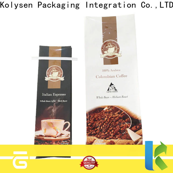 Kolysen side gusset pouches Suppliers for food packaging
