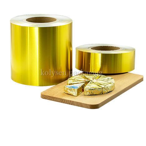 Golden Aluminum Foil for Cheese Wrap