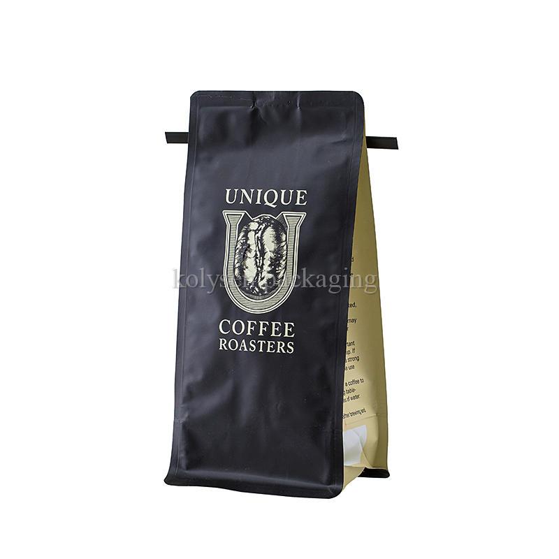 Roasted Tin Tie Flat Bottom Coffee Pouches