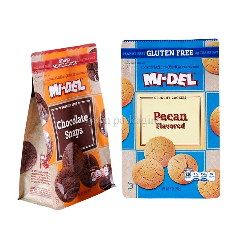 Biscuit Pouch Zipper Cookie Block Bottom Bag