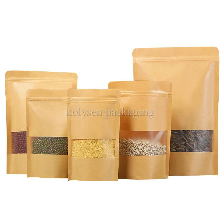 Brown Kraft Paper Bag with Matte Window