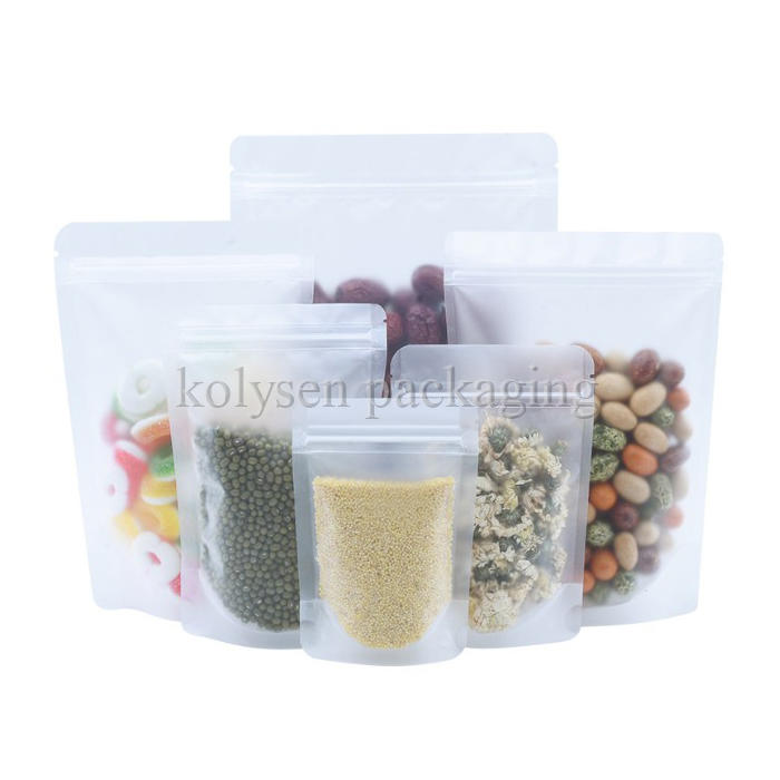 Frosted Transparent Food Plastic Pouch
