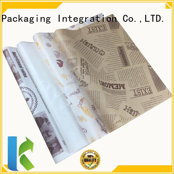 New food wrapping paper Suppliers for sandwich packaging