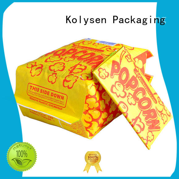 Kolysen Latest packet popcorn manufacturers for microwave food