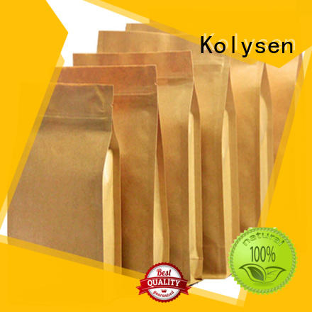 Wholesale brown kraft bags with handles factory used to pack coffee