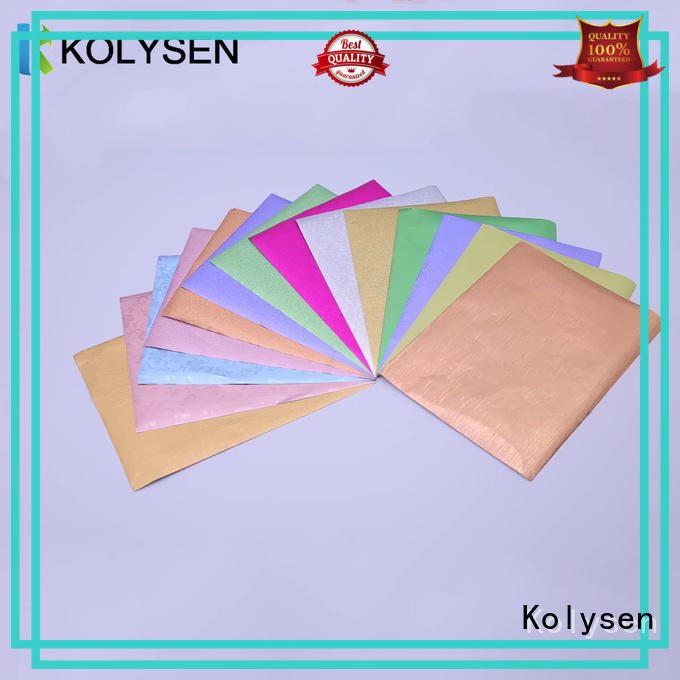 Kolysen gold foil chocolate factory for wrapping ice cream