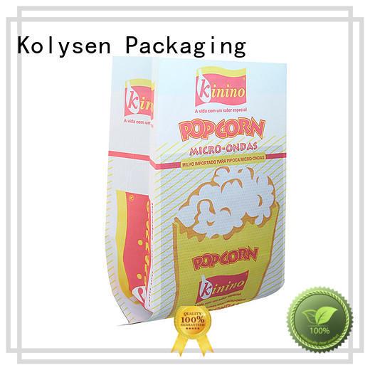 Kolysen Custom popcorn paper bags uk manufacturers for food packaging