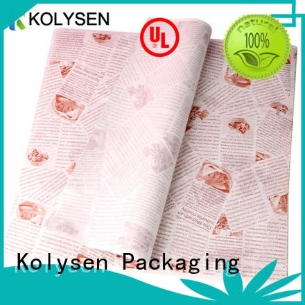 Kolysen grease paper for baking Supply For food packing