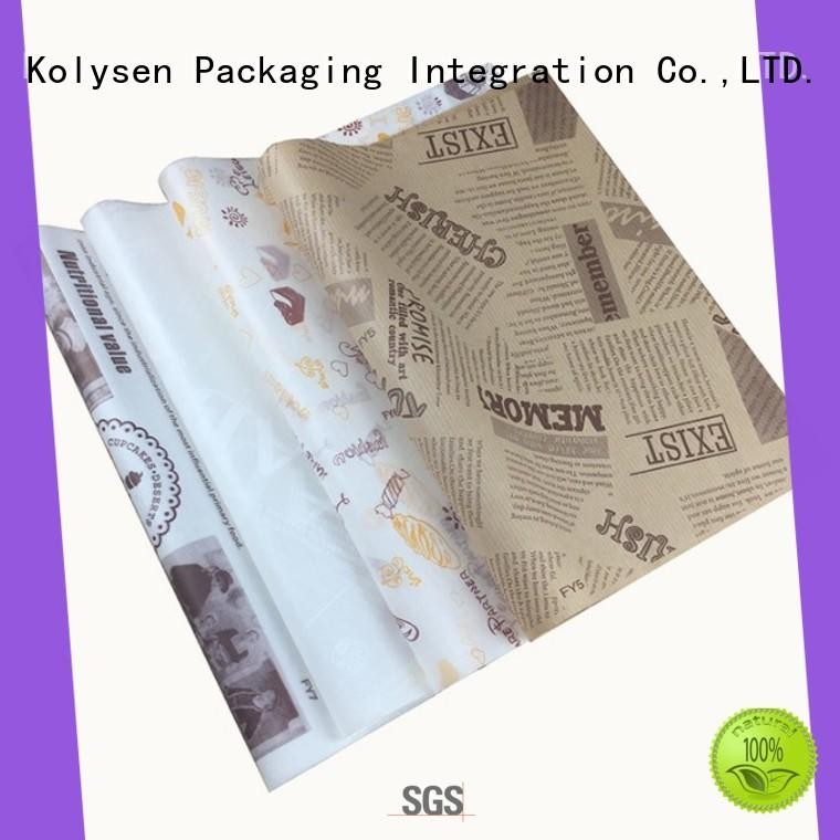 Kolysen Latest coloured baking paper Suppliers for sandwich packaging
