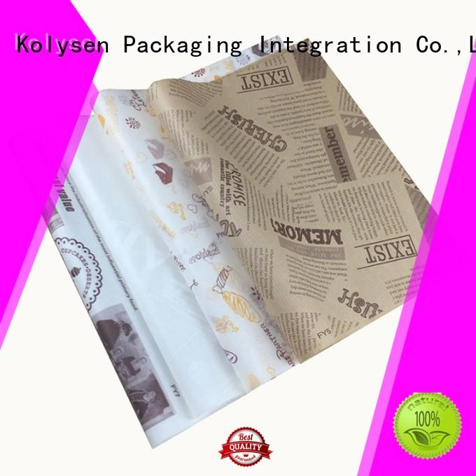 Kolysen Top cooking paper vs parchment paper Supply for sandwich packaging
