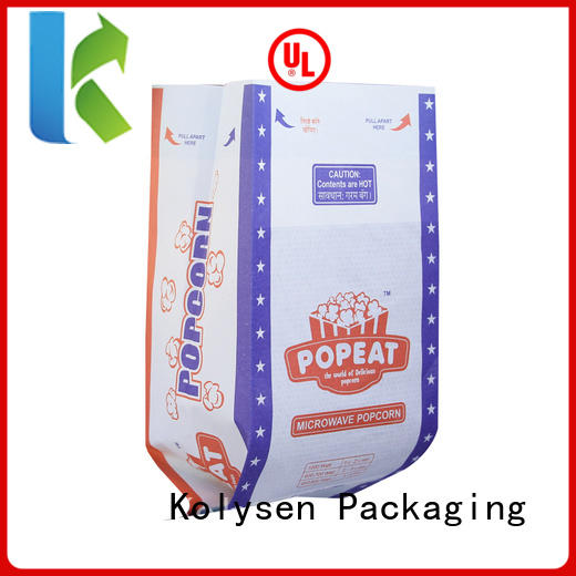 Kolysen fresh popcorn bags for business for microwave food