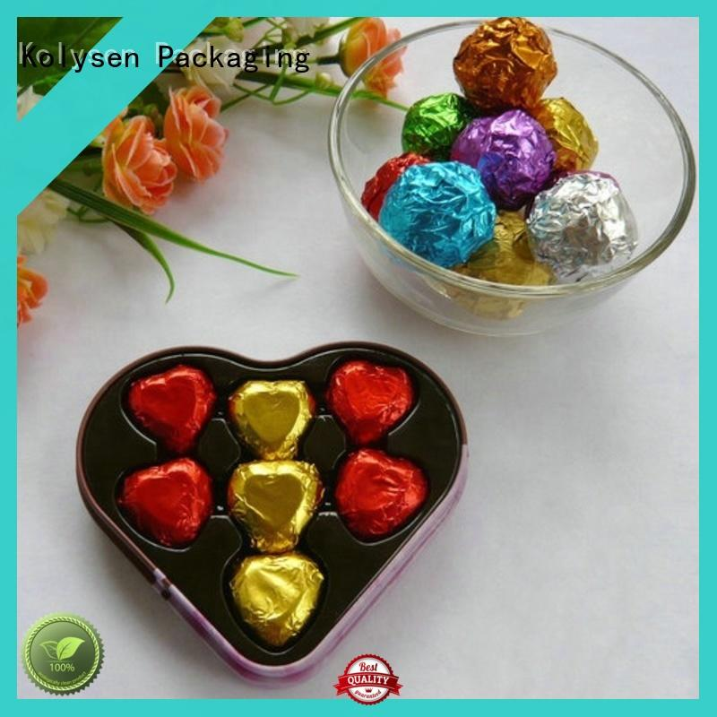 Kolysen wrapping chocolate aluminum foil cheap wholesale for wrapping butter/margarine