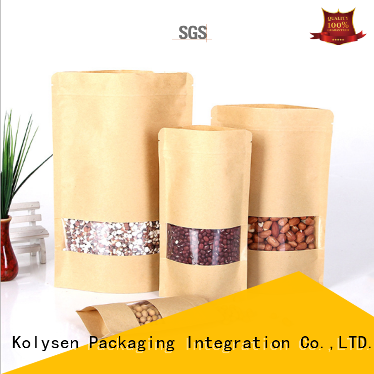 New brown craft paper bag factory used to pack dried fruit