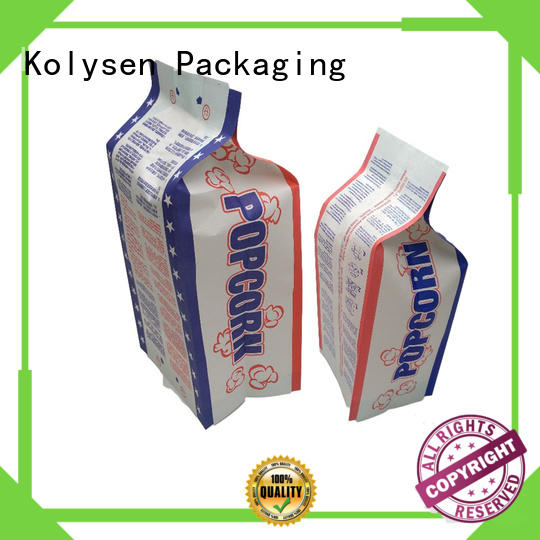 Kolysen Wholesale empty microwave popcorn bags for business for popcorn packaging