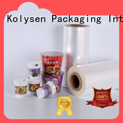 Kolysen High-quality black shrink wrap roll for business for Cosmetic & Toiletry industries