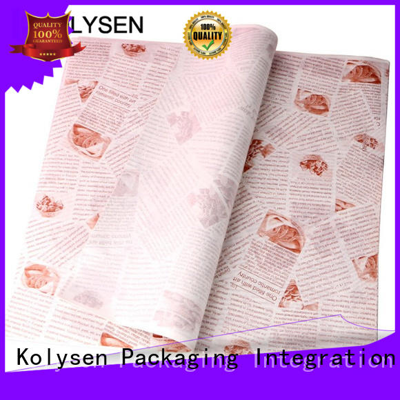 Custom wax paper crafts manufacturers for sandwich packaging